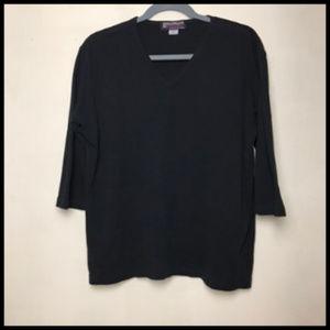 Soft Warm Medium Weight Cotton 3/4 Sleeve T Sz 2XL
